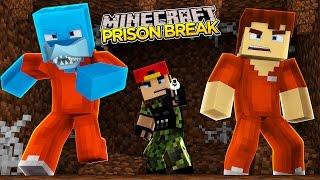 Minecraft PRISON BREAK - EVIL SCUBA STEVE KILLS SHARKY & LITTLE ROPO!!!
