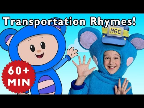 Driving in My Car and More Rhymes With Trains and Cars | Nursery Rhymes from Mother Goose Club!