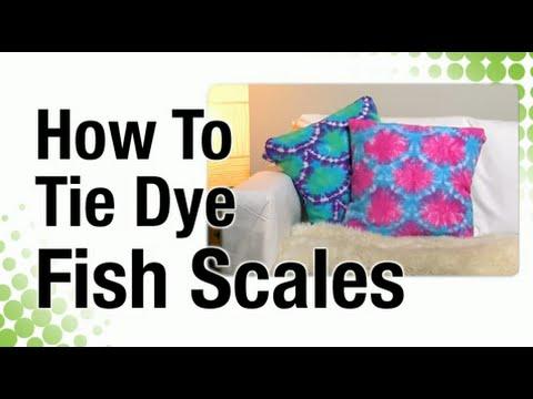 How to Fishscale Tie Dye Technique