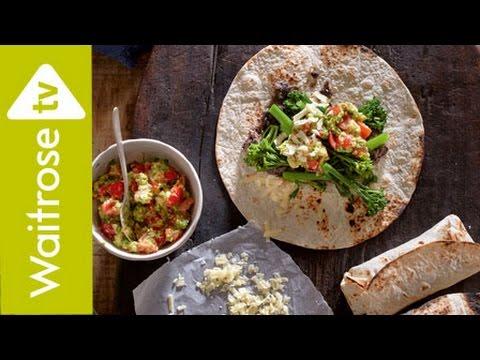 Black Bean and Broccoli Burritos | Waitrose