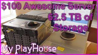 62.5 TERABYTES of External Storage on $100 Awesome Server - 555