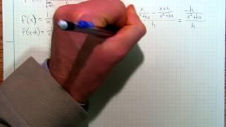 Calculus2d Example of taking the derivative of 1/x.