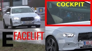 Mercedes Erlkönig E-Klasse E-Class Facelift 2020 MBUX? Cockpit Blick Display view S213- 4K SPY VIDEO