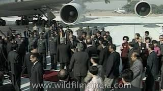 Chinese President Jiang Zemin's historic visit to India in 1996