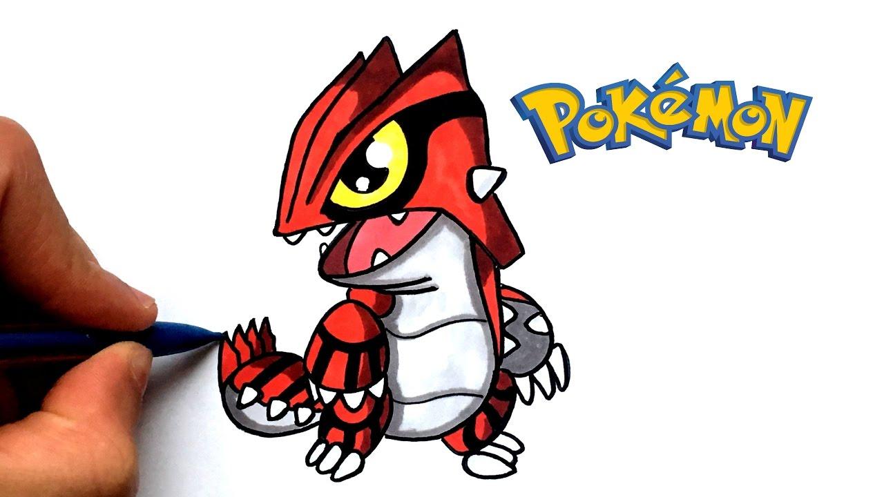 Draw Groudon Kawaii Pokémon
