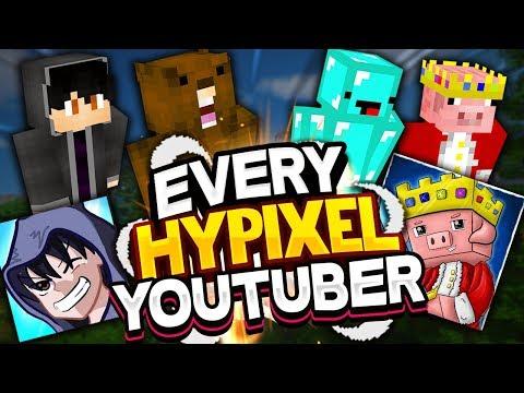 Every Hypixel Youtuber! Ft. Skeppy, TechnoBlade, ShotGunRaids