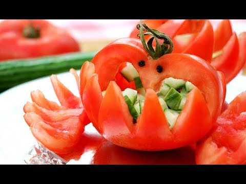Vegetable Carving With Tomato How To Make Tom...