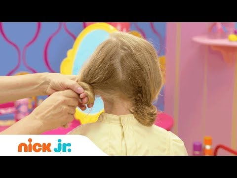 How to Make a Doodle Hairdo 🐩 Style Files Hair Tutorial   Sunny Day   Nick Jr.