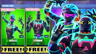 * FREE * Fortnite NITELITE & LITESHOW SKIN FOR FREE! How to Get NITELITE, LITESHOW FOR FREE-Daryus P