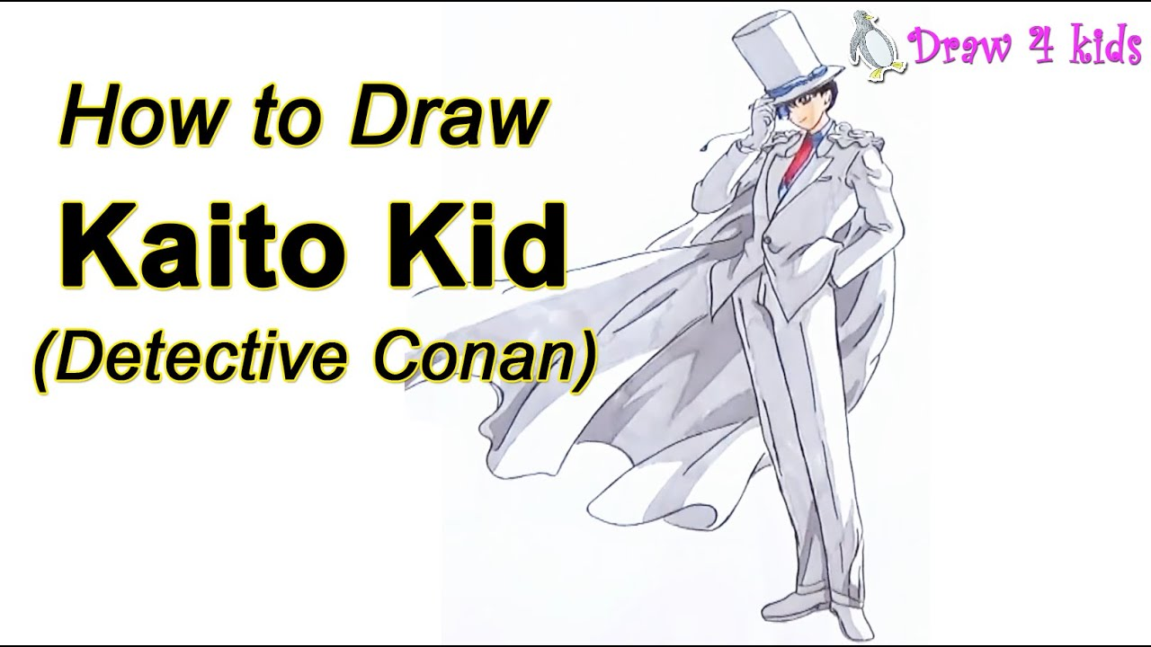 How to Draw Kaito Kid From Detective Conan | D4K
