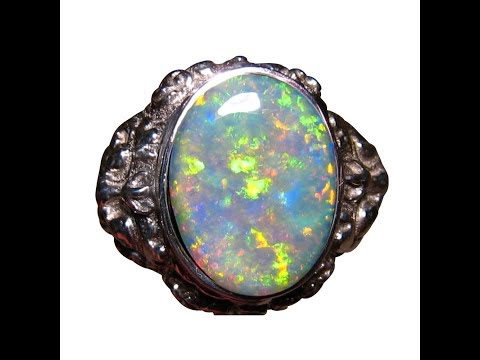 Mens Big Opal Ring 925 Sterling Silver YouTube