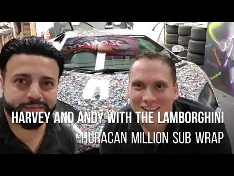 Yiannimize  and One Call visit Lamborghini Aventador Wrap and much more!!