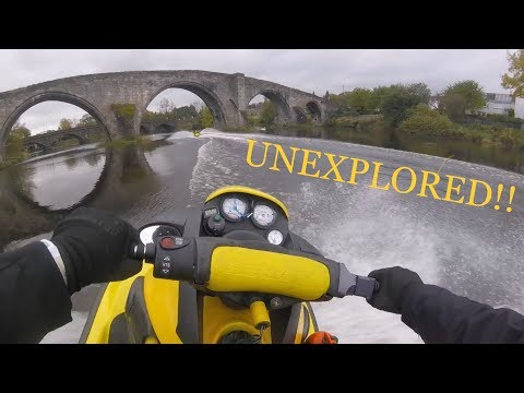 Jet skiing on the River Forth (Alloa-Stirling)