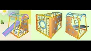 Спортивные уголки и шведские стенки для детей от 2-х до 14-ти лет,