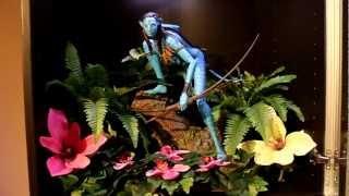 Sideshow Avatar Neytiri statue with diorama
