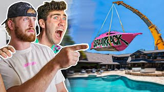 Dropping $100,000 Yacht Into Logan Paul's Pool - Episode 2