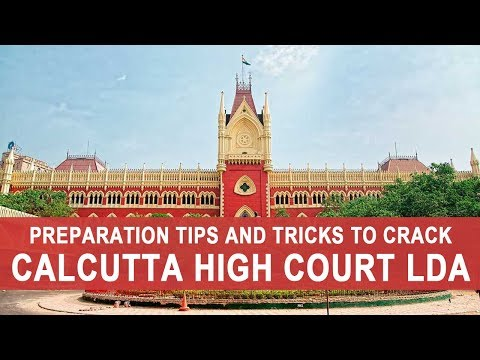 Preparation Tips and Tricks to Crack Calcutta High Court LDA - 동영상