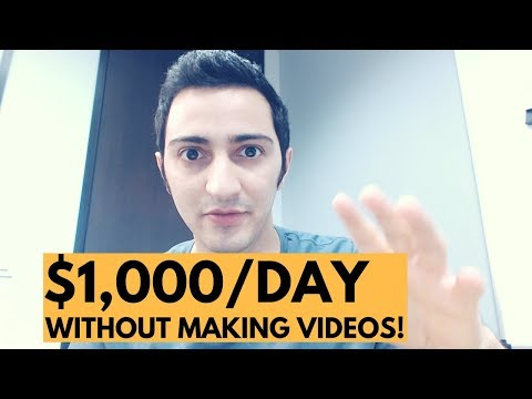 How to Make $1,000/DAY On YouTube From Affiliate Marketing Without Making Videos!