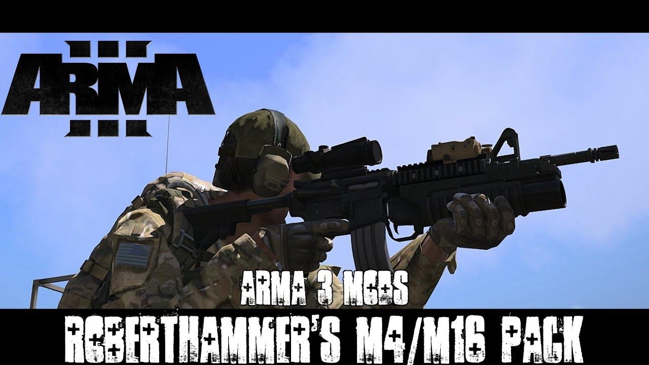 ArmA 3 Mods - RobertHammer's M4/M16 Pack