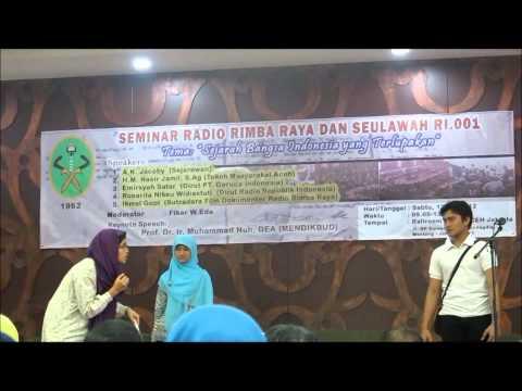 Teatrikal radio rimba raya oleh mahasiswa Aceh