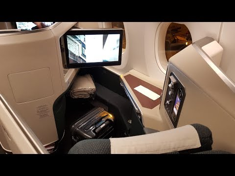 Cathay Pacific A350 Business Class ✈ Hong Kong to Rome CX293