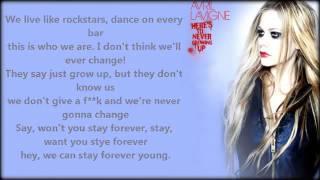 Video Here's To Never Growing Up - Avril Lavigne COMPLETE LYRICS 2013 download MP3, 3GP, MP4, WEBM, AVI, FLV Juli 2018