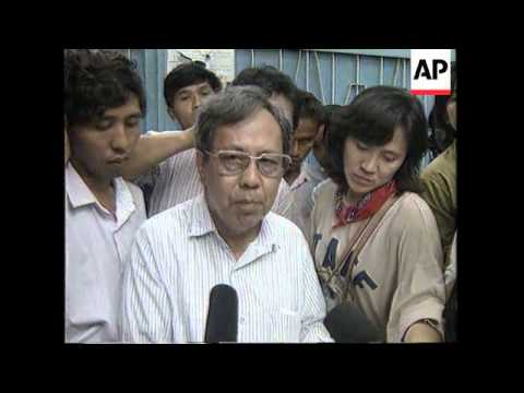 BURMA: RANGOON: AUNG SAN SUU KYI REUNITED WITH HER FAMILY