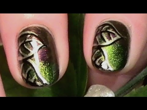 herbst bl tter nageldesign f r kurze n gel mit nagellack fall nail art design tutorial. Black Bedroom Furniture Sets. Home Design Ideas