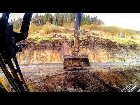 Ditch digging