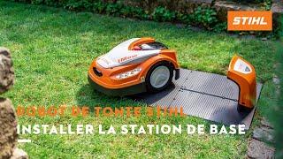 Robot de tonte STIHL : Installer la station de base (3/8)