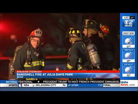 Bandshell Fire at Julia Davis Park