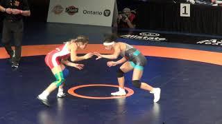 2019 Canadian Trials WW57kg Amy Bellavia (Dinos) vs Alexandria Town (York)