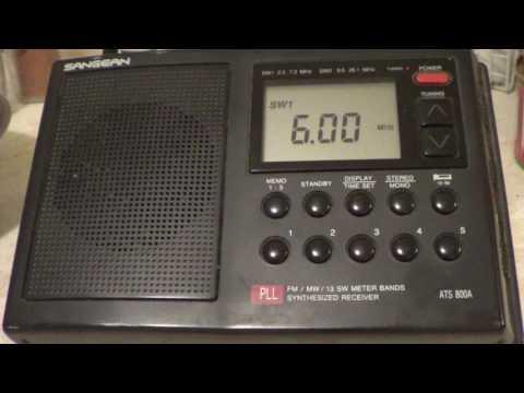 Radio Habana Cuba on Sangean ATS 800A Shortwave Radio
