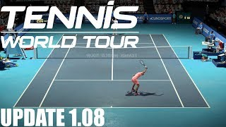 Tennis World Tour - UPDATE 1.08 - Nick Kyrgios vs Roger Federer - PS4 Gameplay
