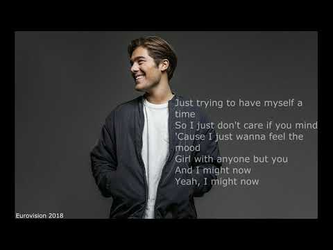 Benjamin Ingrosso - Dance You Off - Sweden - Eurovision 2018 (With Lyrics)