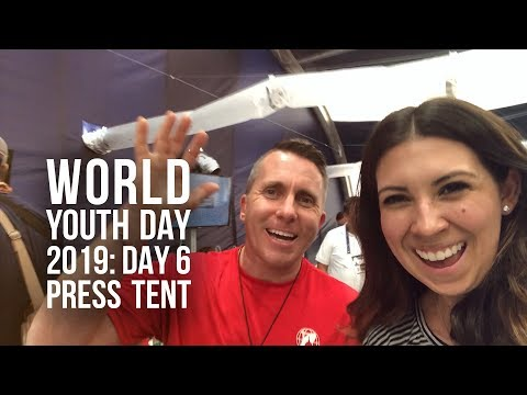 World Youth Day 2019: Press Tent Surprises (Day 6)