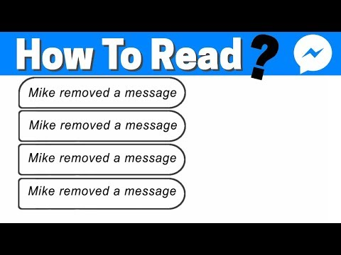 How To Read Deleted Messages On Messenger ( Removed A Message )