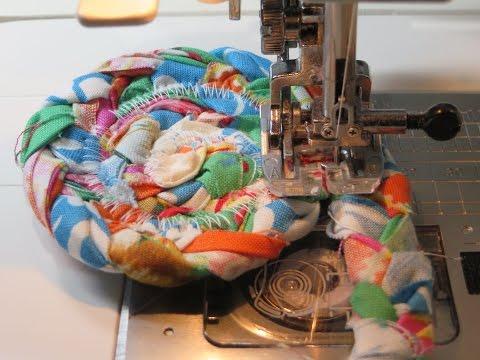 Fabric Ided Rag Rug Coaster