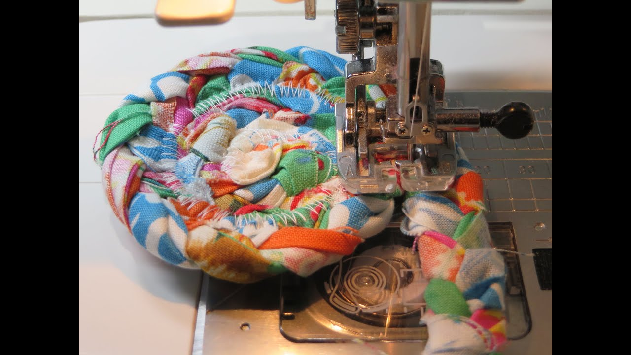 Fabric Strips Braided Rag Rug Coaster How To Begin End