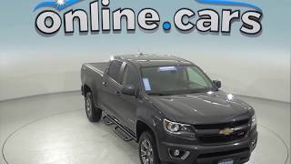 A96933GT Certified 2016 Chevrolet Colorado Z71 4WD Crew Cab Gray Test Drive, Review, For Sale
