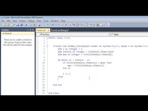 Find Max From List Box Tutorial Using A While Loop In