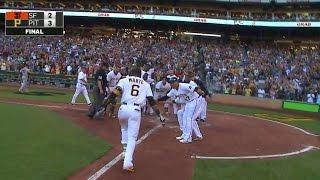 Marte belts walk-off homer to center field