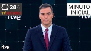 Minuto inicial de Pedro Sánchez   Debate en RTVE
