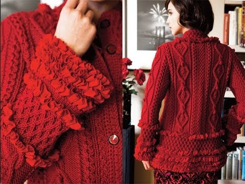 #5 Ruffled Cardigan, Vogue Knitting Winter 2012/13