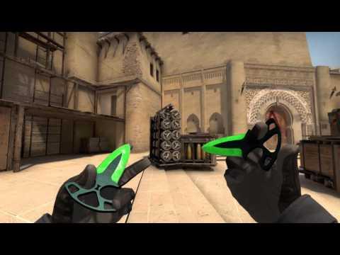 Shadow Daggers Doppler Emerald Cs Go Fantasy Skin