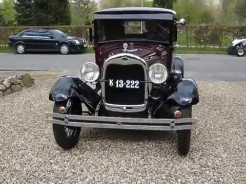 Ford veteranbil fra 1929 v/ Agerbæk kirke 2015