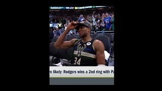 Aaron Rodgers winning a 2nd ring with the Bucks or Packers: Which is more likely? #Shorts