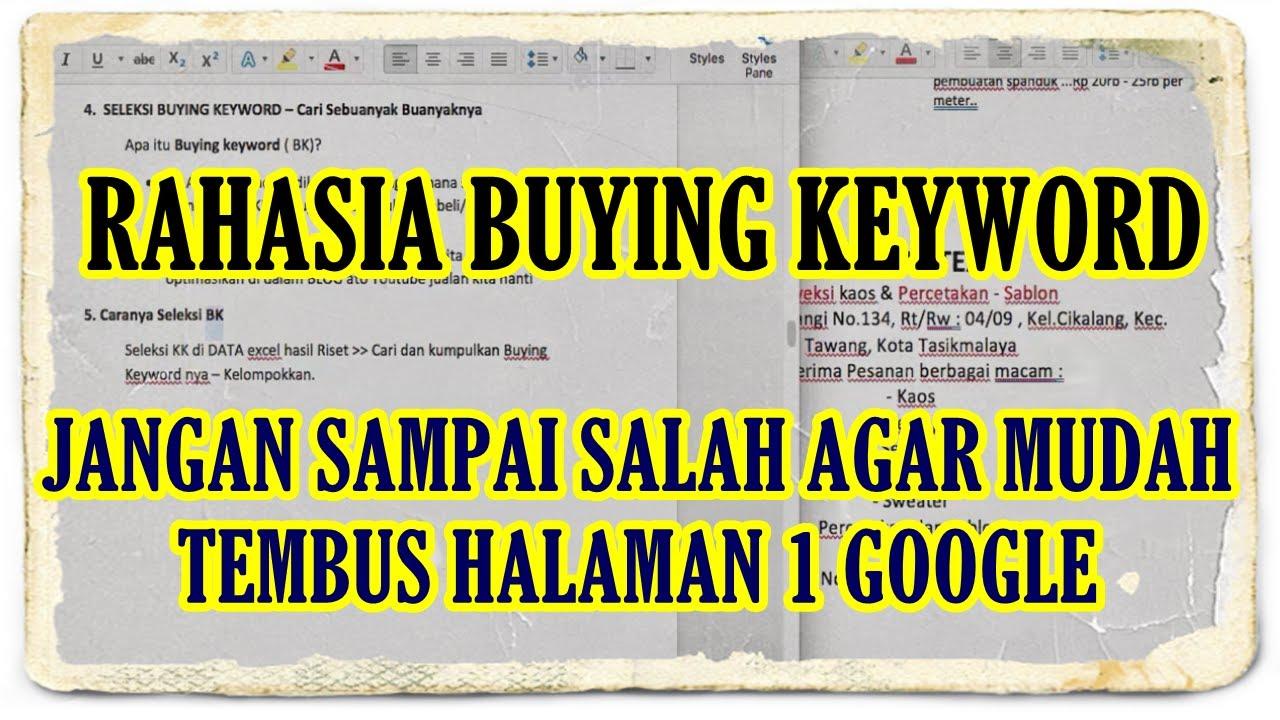 Jangan Salah Agar Mudah Tembus Halaman 1 Google | apa itu ...