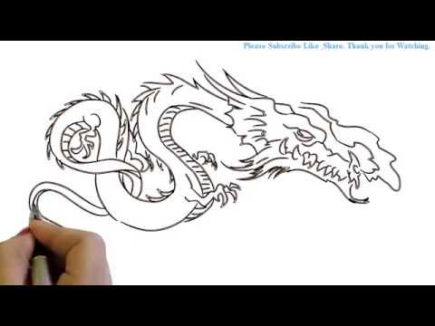 How To Draw A Fire Breathing Dragon Yzarts Yzarts Youtube