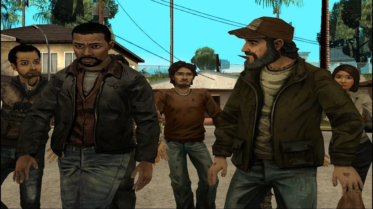 The Walking Dead Characters in GTA San Andreas
